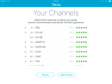 New Tablo Setup: Channel Scans – Tablo